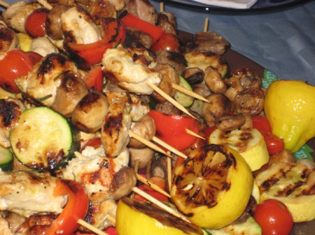 kebab plate close up