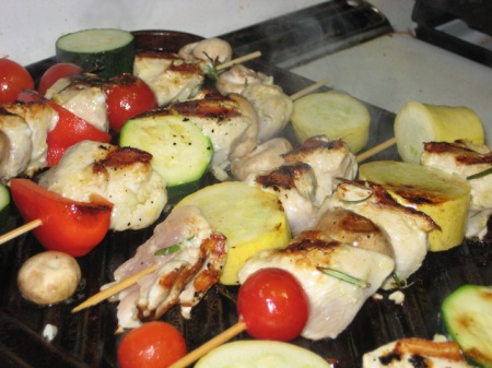 s- chicken kebabs - cooking