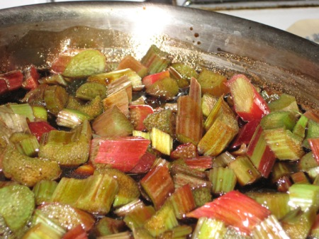 cooking rhubarb