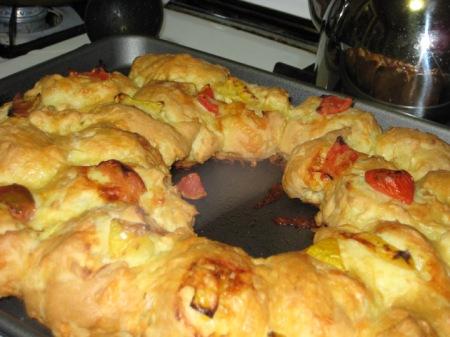 baked gougere