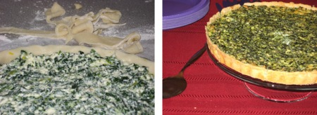 spinach pie composite