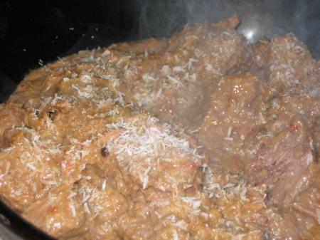 beef rendang - served