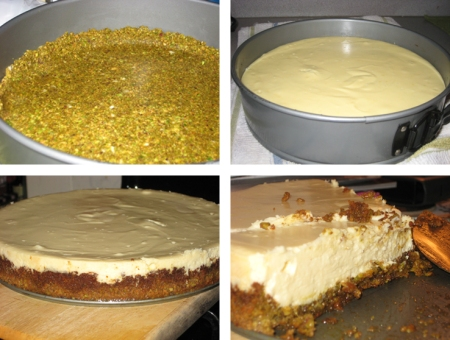 cheesecake in progress