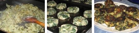kale & potato cakes in progress