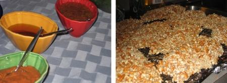 pretzel chicken & sauce