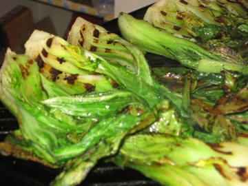 grilled bok choi