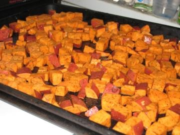 unroasted sweet potatoes