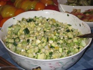 corn & zucchini salad
