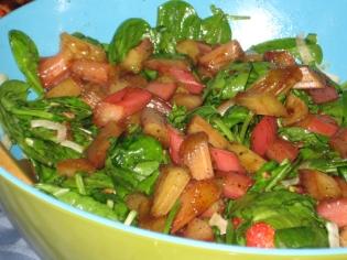 salad w rhubarb