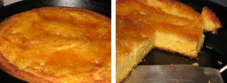 cornbread before & after