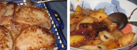 pork chops & sauce