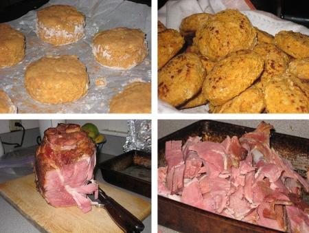 biscuits & ham